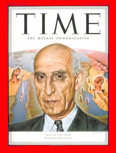 Mosaddegh Time Man of the Year Iran