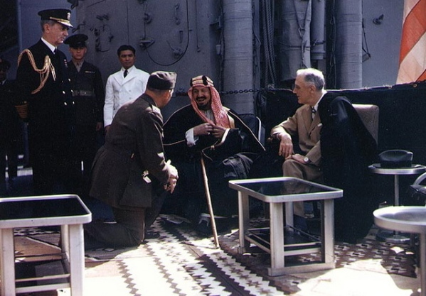FDR Ibn Saud Quincy Meeting Roosevelt