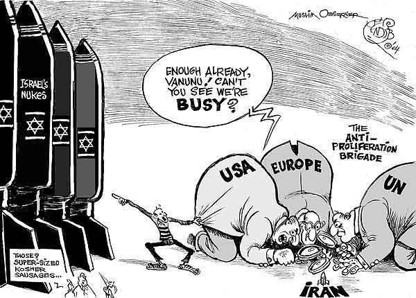 Image result for Israel's Nuclear CARTOON