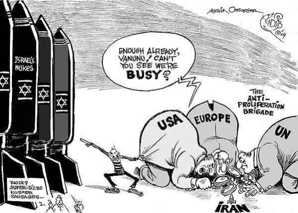 Israel Nuclear arsenal Cartoon