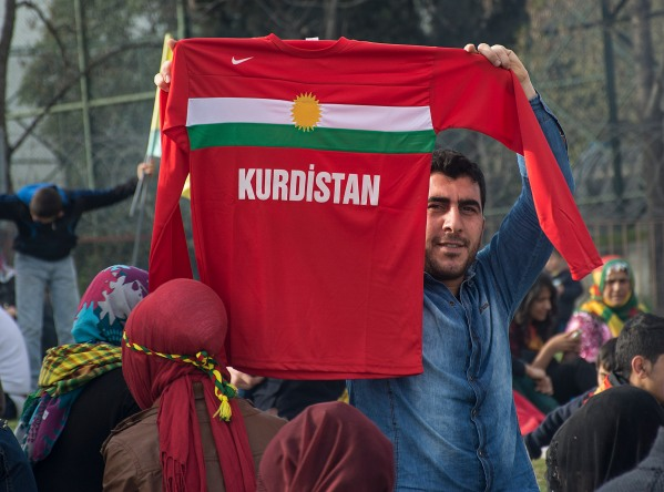 A man at the 2014 Newroz celebrations in Istanbul. © Nick Ashdown